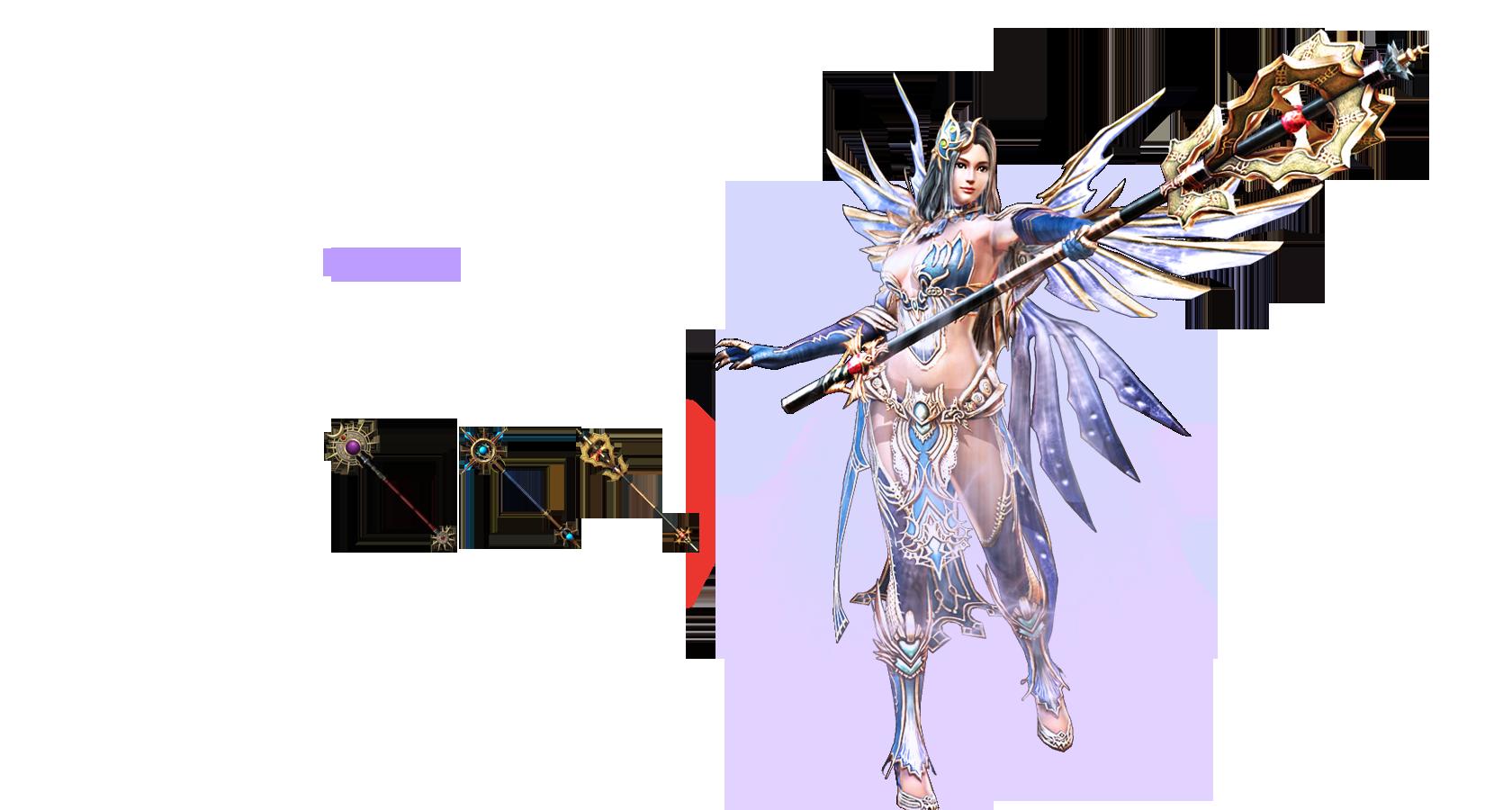 Wizard 강력한 주문으로 세상을 지배한다. 많은 적을 상대할 수록 그 어떤 무기보다 강력한 파괴력을 자랑한다. 그녀의 마법은 적들에게는 두려움을 넘은 공포였다. 다양한 범위 마법과 강력한 체인 마법으로 넓은 범위의 공격이 가능하다.