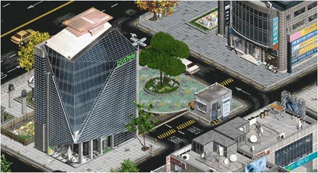 이터널시티 게임 내 도시 화면