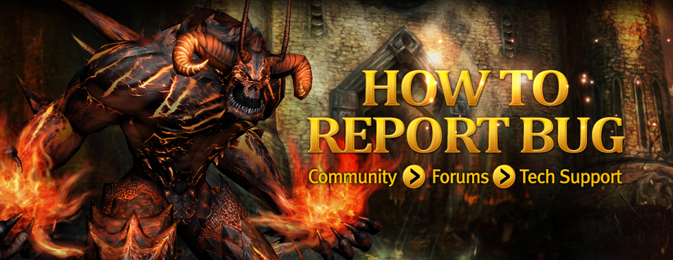 HOW TO REPORT BUG